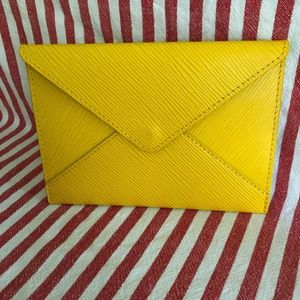 Louis Vuitton Envelope Clutch EPI Leather Yellow